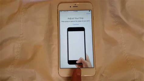 iphone  fingerprint id setup  demo youtube