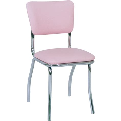Chairs : Metal Retro Upholstered Chrome Chairs