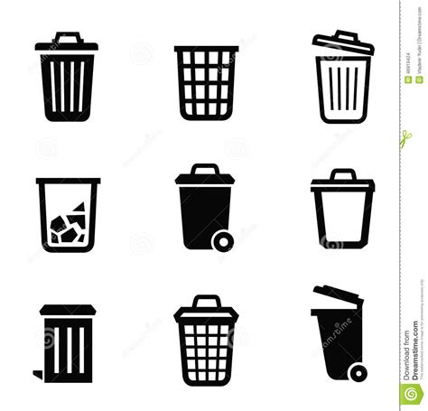 Design Bathroom Tool by Trash Can Icon Stock Vector Image 46919424