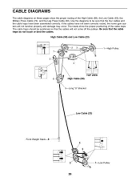 weider pro 9635 cable diagram
