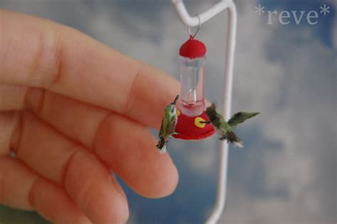 miniature hummingbirds handmade sculpture by