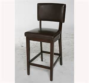 Leather Bar Stool With Back Barstools Sacred Space Imports