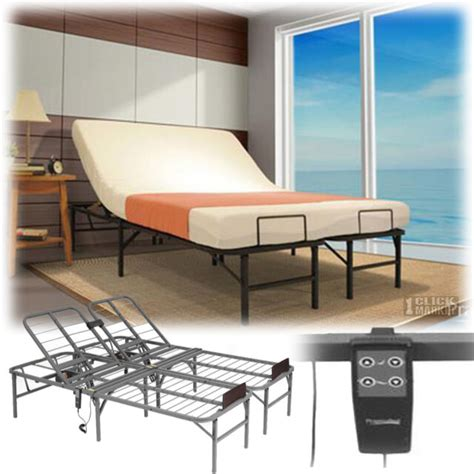 size electric adjustable lift bed frame remote foundation base ebay