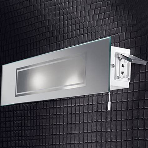 bathroom lights with shaver socket franklite low energy mirrored ip44 bathroom wall