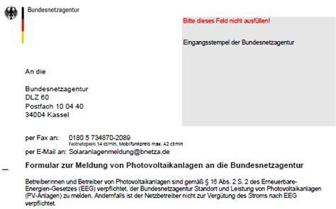 Muster Angebot Pv Anlage Anmeldung Der Photovoltaikanlage Bei Der Bundesnetzagentur Netzbetreiber