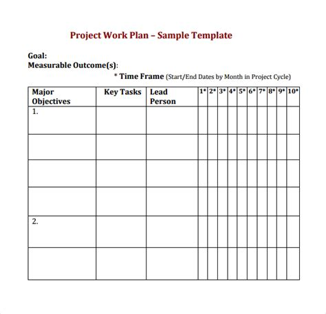 Workplan Template by 19 Useful Sle Project Plan Templates To Downlaod