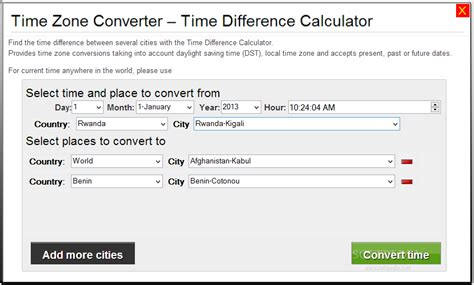 calculator time time zone converter time difference calculator download