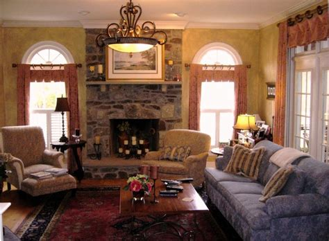 French Country Livingroom French Country Designs Family Room Transitional Family