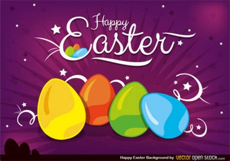 easter themes pictures happy easter theme in four colors vector free download