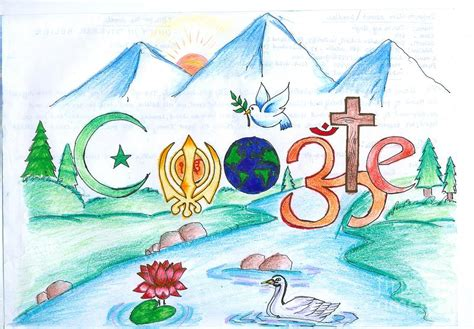 doodle drawing contest doodle 4 painting by tanmay singh
