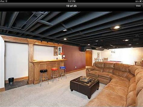 Painting Basement Ceilings by Paint Basement Ceiling Black Basement Fix Up Pinterest
