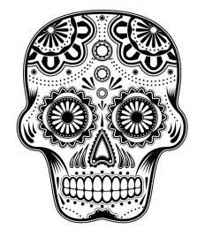 day of the dead skull template day of the dead blank skull template images pictures