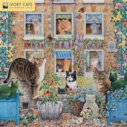 Cat Calendar 2018 Ivory Cats 2018 Wall Calendar 9781786642905 Calendars