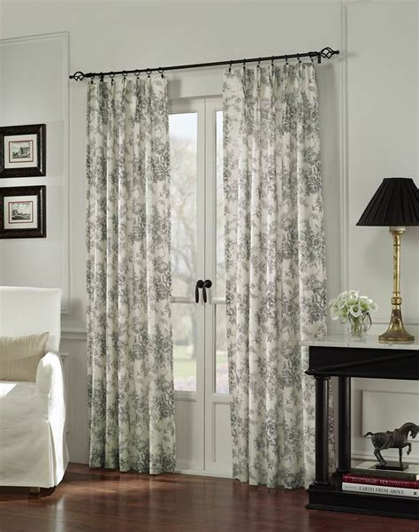www country curtains com hton toile pinch pleat window curtain panel mocha