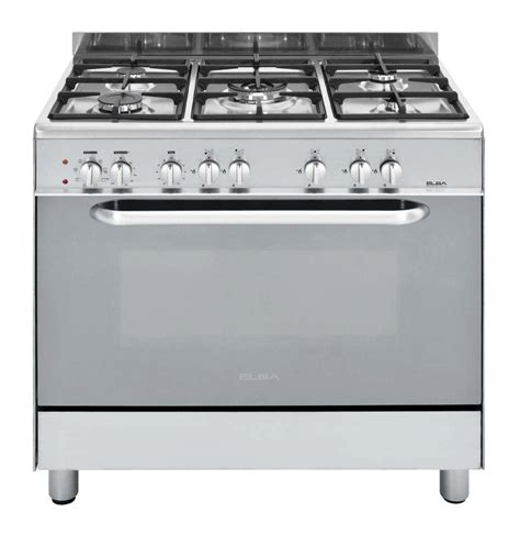 Dapur Gas Oven Elba elba 900 mm 5 burner gas electric stove stainless steel 01