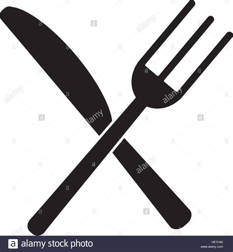 kitchen forks and knives utensils kitchen crossed fork and knife pictogram stock