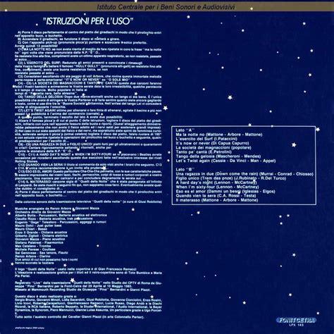 il materasso renzo arbore discografia nazionale della canzone italiana