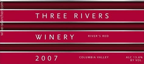 Three Rivers Columbia Detox by 2012 Three Rivers Winery River S Columbia Valley Usa
