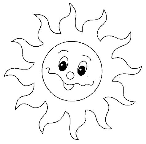 Sun Coloring Pages Sun Colouring Page