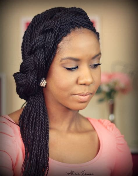 Wedding Hairstyles With Box Braids by How To Tie Up Senegalese Twists At Hairstyle Gallery