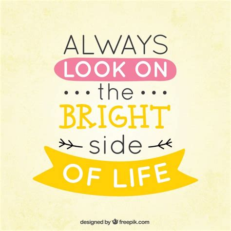 bright side el always look on the bright side of life vector free download
