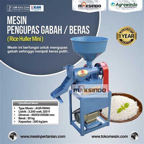Jual Mesin Pemipil Jagung Mini mesin rice huller mini pengupas gabah beras agr rm40