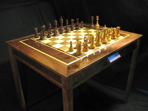 Handmade Chess Set - chess set handmade chess table and staunton club chess