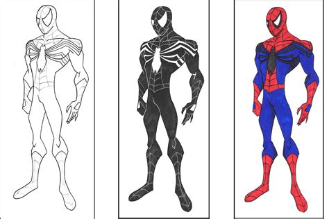 spiderman coloring pages black spiderman coloring pages to