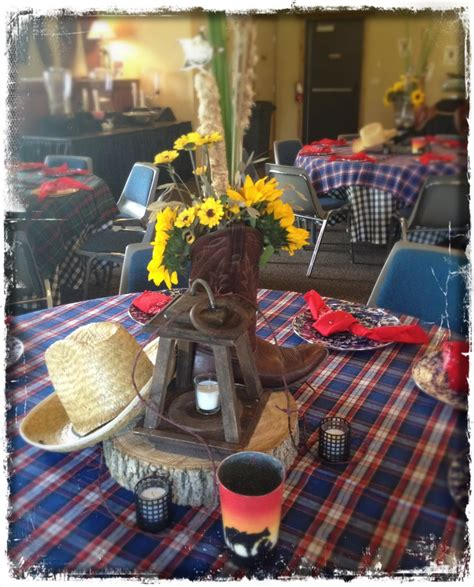 cowboy themed centerpieces awesome country western themed centerpieces and table