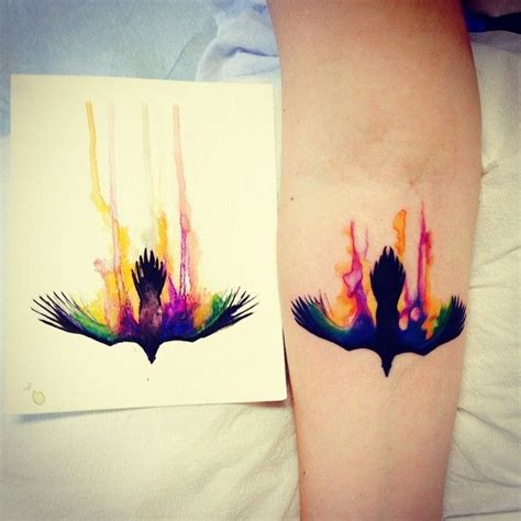 watercolor tattoo raven 210 best images about ideas on