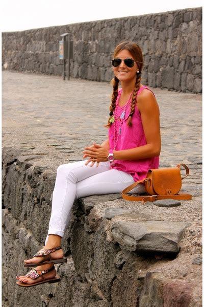 Stradivarius Blouse Pink pink natura blouses bronze zara bags white