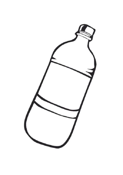 water bottle coloring page coloring pages pinterest