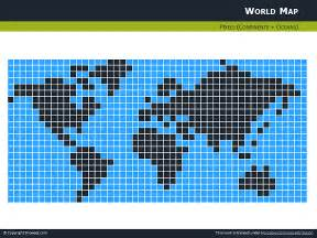 free pixel world map for powerpoint