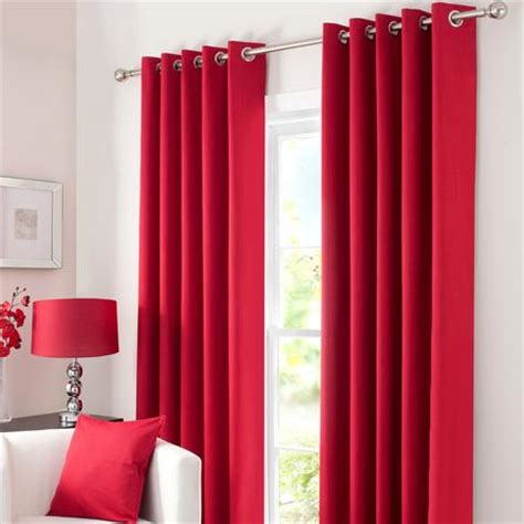red blackout curtains waters and noble red solar blackout eyelet curtains dunelm