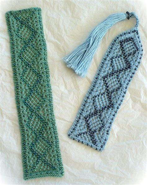 knitted bookmarks beaded knitted bookmarks bookmarks