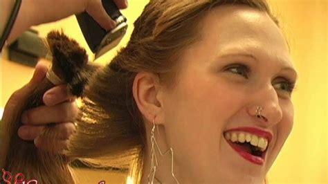 headshave gorgeous womens longer video  youtube
