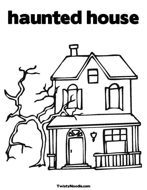 how to color a house halloween coloring pages haunted house coloring home