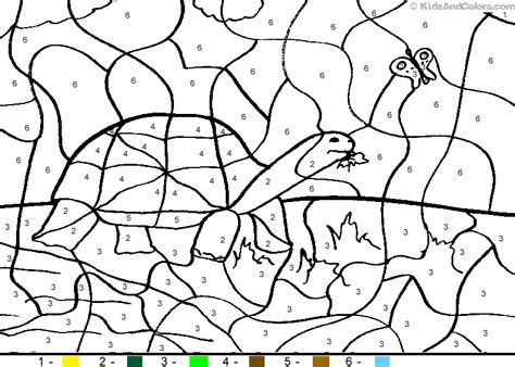 color by numbers animals coloring pages kidsandcolors com
