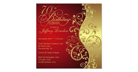 70 birthday invitation template 15 70th birthday invitations design and theme ideas