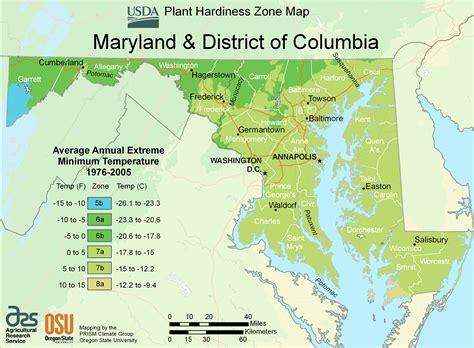maryland map coordinates maryland plant hardiness zone map mapsof net