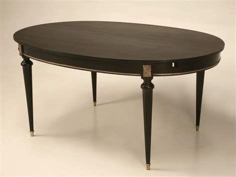 Antique Dining Room Tables With Leaves by Vintage Ebonized Louis Xvi Style Oval Dining Table