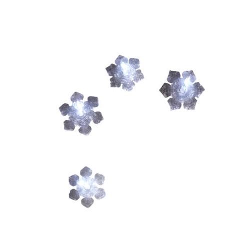String Of 4 Snowflake Lights Fitzula S Gift Shop Snowflake Lights String