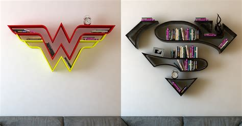 these superman bookshelves are for