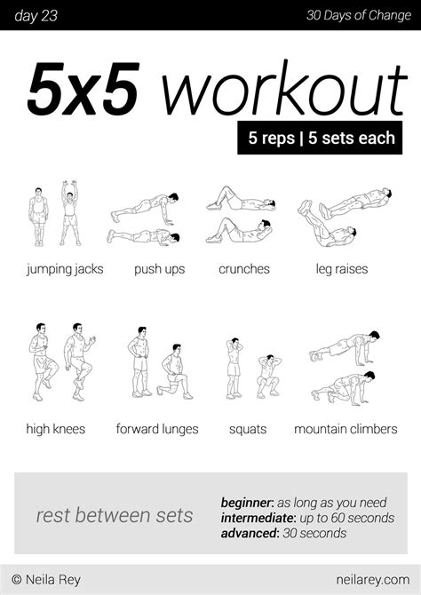 no equipment 30 day workout program workout programs