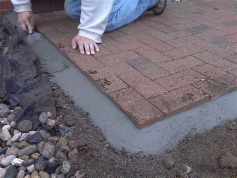 paver patio edging options cement bead for securing edge on brick pavers brick