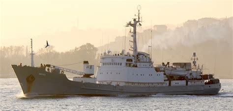 russian spy boat russian spy ship sinks after colliding with boat full of