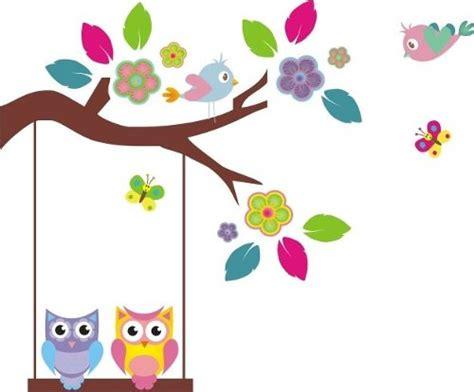 imagenes flores infantiles ramas infantiles vinilo decorativo flores buhos monos