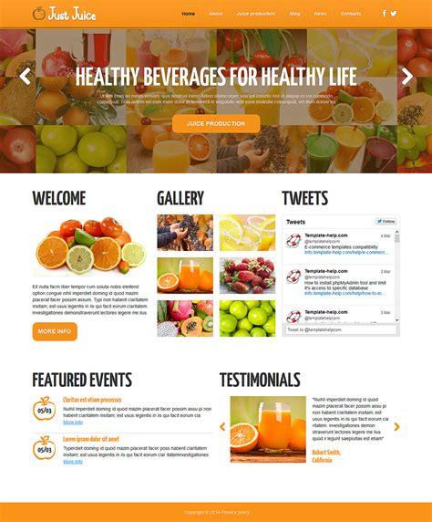 joomla template organic food food drink responsive joomla template 48671