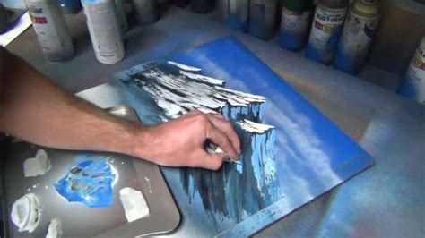 spray paint how to make mountains mountain tutorial part 1 of 2 spray paint