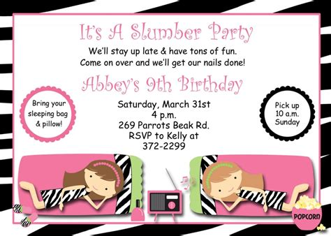 printable pajama party invitation templates